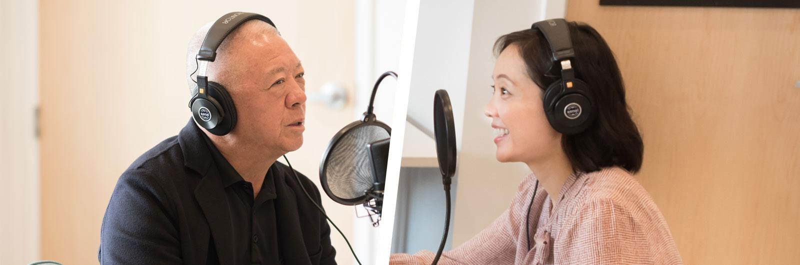 Andrew and Andrea Cherng in the studio
