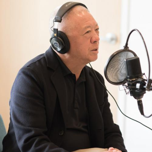 Andrew Cherng in the studio